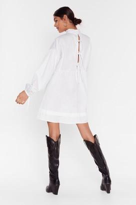Nasty Gal Womens If You Never Tie High Neck Mini Dress - beige - 4