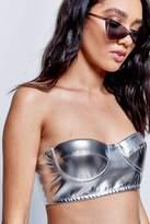 Jaded London **metallic silver bikini bralet