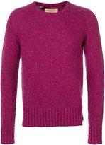 Burberry flecked crew neck sweater