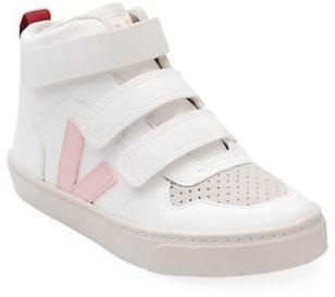 Veja Baby's, Little Girl's & Girl's V-Logo Leather High-Top Sneakers