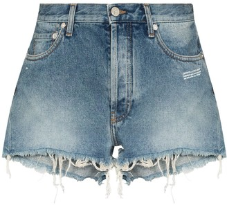 Off-White Raw-Hem Denim Shorts