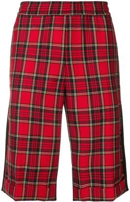 John Undercover Plaid Print Knee-Length Shorts