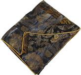 Roberto Cavalli Brocade Silk Bedspread - Grey - 180x130cm