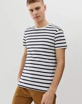 Esprit slim fit t-shirt with navy stripe