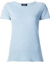 A.P.C. striped short sleeve T-shirt