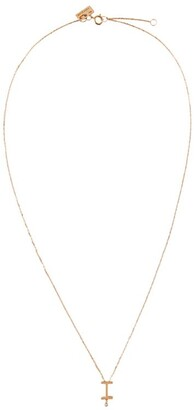 VANRYCKE Rose Gold And Diamond Abecedaire Letter I Necklace