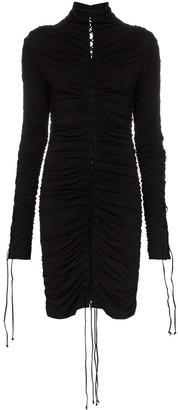 Unravel Project Lace-Up Mini Dress