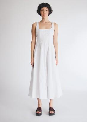 STAUD Wells Poplin Dress in White