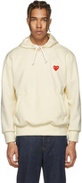 Comme des Garcons Off-white Heart Patch Hoodie