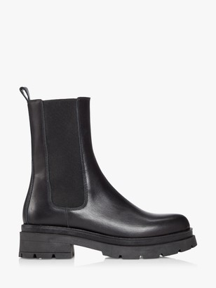 Dune Palms Leather Chelsea Boots, Black