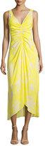 A.L.C. Katherina Sleeveless Maxi Dress, Yellow Pattern