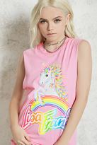 Forever 21 FOREVER 21+ Lisa Frank Graphic Muscle Tee