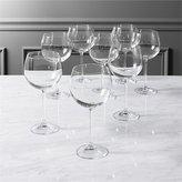 CB2 Set Of 8 Clarity Wine Glasses