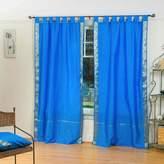 Indian Selections Tab Top Sheer Sari Curtain / Drape / Panel - 43W x 96L - Piece