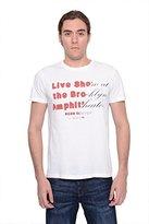 HUGO BOSS Orange Mens White T-shirt (Medium)