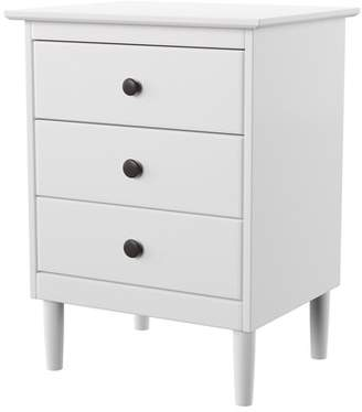 Labriola 3 Drawer Solid Wood Nightstand Mercury Row Color: White