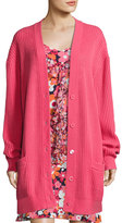 Michael Kors Oversized Cashmere Cardigan, Pink