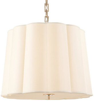 Visual Comfort & Co. Simple Scallop Chandelier - Soft Silver