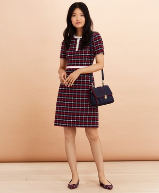 Brooks Brothers Checked Boucle A-Line Dress