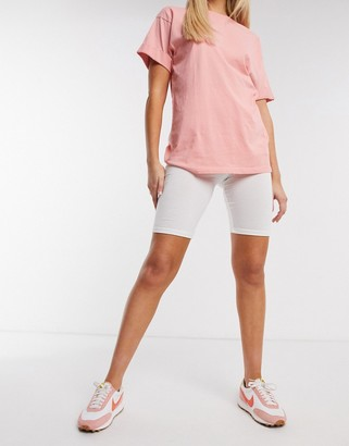 Outrageous Fortune loungewear bodycon shorts in cream