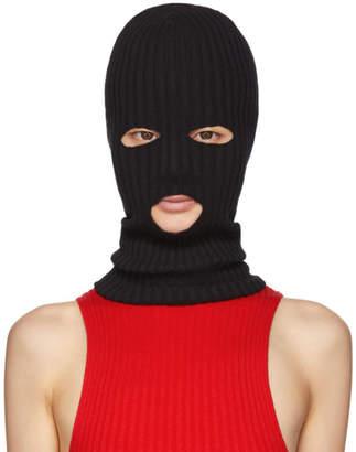Giu Giu giu giu Black Rib Knit Ski Mask