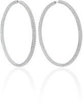 Anita Ko 3 Row Large Pave Diamond Hoops