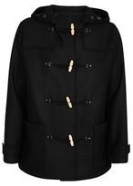 Lanvin Black Wool Felt Duffle Coat