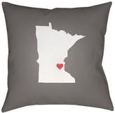 Surya State of the Heart - Minnesota Throw Pillow