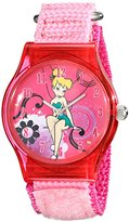 Disney Kids' W001705 Tinker Bell Analog Display Analog Quartz Pink Watch