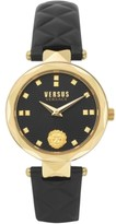 Thumbnail for your product : Versus By Versace Women's Covent Garden Petite Black Leather Strap Watch 32mm