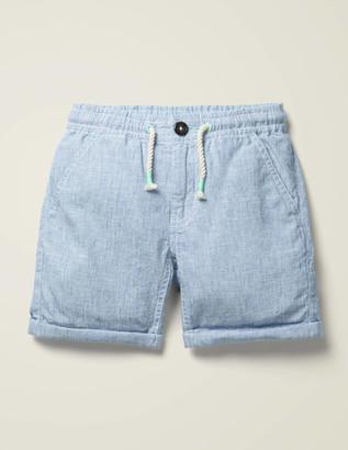 Cotton Linen Roll-up Shorts