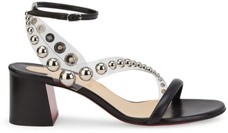 Christian Louboutin Corinne Embellished PVC & Leather Sandals
