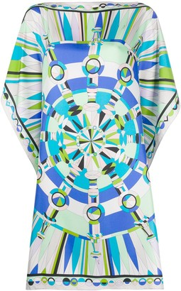 Emilio Pucci Abstract Print Handkerchief Dress