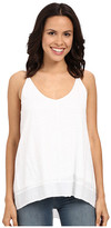 Heather Cotton & Gauze High-Low Double V-Cami