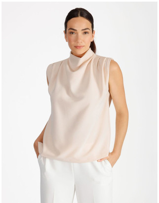 Basque Cowl Neck Top