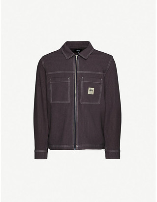 Stussy Hickory logo-embroidered regular-fit cotton shirt