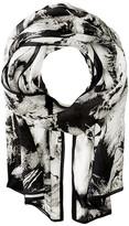 Roberto Cavalli Leo Camouflage Silk Stole