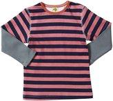 Kiwi Tee (Toddler/Kid) - Pink/Midnight Stripe-6 Years