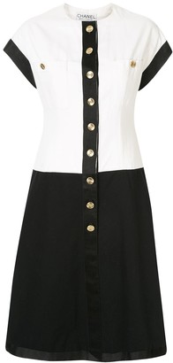 Chanel Pre Owned two-tone CC dress