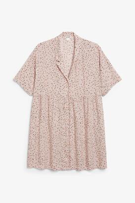 Monki Boxy button-up dress