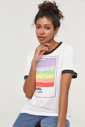 Ardene Equal Love Rainbow Tee
