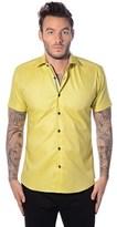 Bertigo Solid Yellow Button Down Shirt.