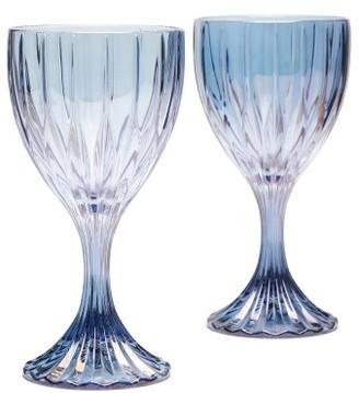 Luisa Beccaria Prestige Set Of Two Wine Glasses - Blue
