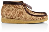 Clarks Woven Floral Wallabee Boots