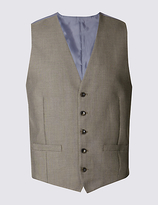 M&s Collection Brown Tailored Fit Waistcoat