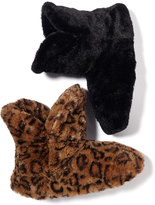 Charter Club Sculpted Pile Boot with Faux Fur Slippers