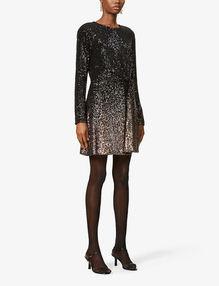 Diane von Furstenberg Savanna scoop-neck sequin-embellished mini dress