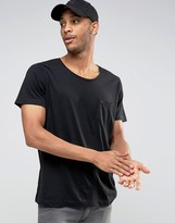 Diesel T-Shirt T-Kronox Loose Fit Scoop Neck In Black