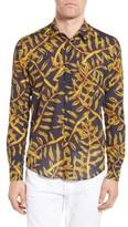 Vilebrequin Men's Vilbrequin Gold Palms Voile Sport Shirt