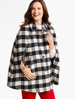 Talbots Buffalo-Check Cape